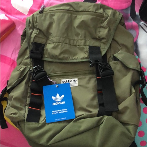 top brands new photos new style adidas Bags | Originals Urban Utility Backpack Olive Nwt | Poshmark